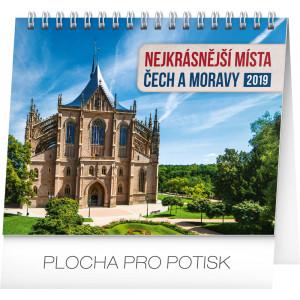 """Náhled reklamního předmětu """"Stolní kalendář Nejkrásnější místa Čech a Moravy 2019"""""""