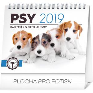 """Náhled reklamního předmětu """"Stolní kalendář Psy 2019"""""""