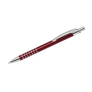 """Reklamní předmět """"Kovové kuličkové pero (propiska) Ringo"""" v barevné variantě tmavě červená"""