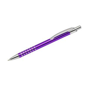 """Reklamní předmět """"Kovové kuličkové pero (propiska) Ringo"""" v barevné variantě fialová"""