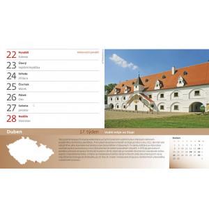 """Fotografie č. 1 k reklamnímu předmětu """"Stolní kalendář 55 turistických NEJ Čech, Moravy a Slezska 2019"""""""