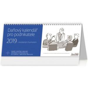 """Náhled reklamního předmětu """"Stolní kalendář Daňový kalendář pro podnikatele s kresleným humorem 2019"""""""