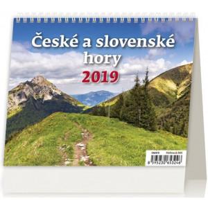"""Fotografie reklamního předmětu """"Stolní kalendář České a slovenské hory 2019"""""""