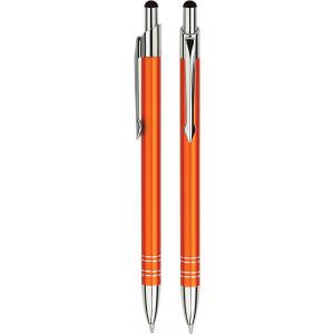 """Reklamní předmět """"Kovové kuličkové pero (propiska) Slim Touch Pen"""" v barevné variantě červená"""