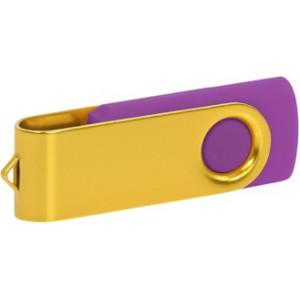"""Reklamní předmět """"Flashdisk USB 2.0"""" v barevné variantě žlutá/fialová"""