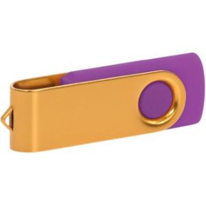 """Reklamní předmět """"Flashdisk USB 2.0"""" v barevné variantě zlatá/fialová"""
