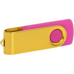 """Reklamní předmět """"Flashdisk USB 2.0"""" v barevné variantě žlutá/růžová"""