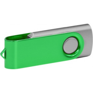 """Reklamní předmět """"Flashdisk USB 2.0"""" v barevné variantě fialová/žlutozelená"""