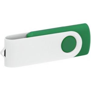 """Reklamní předmět """"Flashdisk USB 2.0"""" v barevné variantě bílá/ocelově modrá"""