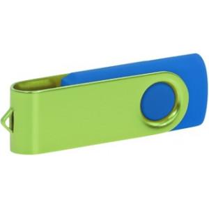 """Reklamní předmět """"Flashdisk USB 2.0"""" v barevné variantě fialová/žlutooranžová"""