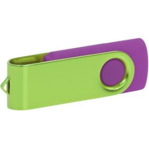 """Reklamní předmět """"Flashdisk USB 2.0"""" v barevné variantě fialová/stříbrná"""