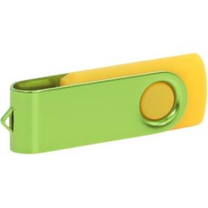"""Reklamní předmět """"Flashdisk USB 2.0"""" v barevné variantě růžová/ocelově modrá"""