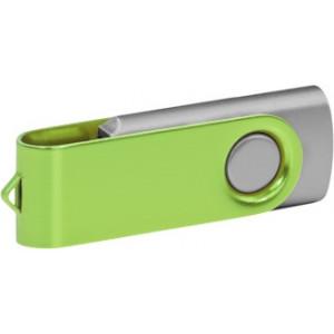 """Reklamní předmět """"Flashdisk USB 2.0"""" v barevné variantě růžová/žlutozelená"""