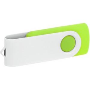 """Reklamní předmět """"Flashdisk USB 2.0"""" v barevné variantě bílá/žlutozelená"""