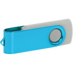 """Reklamní předmět """"Flashdisk USB 2.0"""" v barevné variantě oranžová/azurová"""