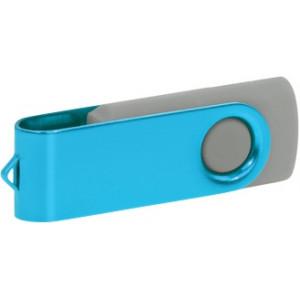 """Reklamní předmět """"Flashdisk USB 2.0"""" v barevné variantě oranžová/námořnická modř"""