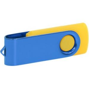 """Reklamní předmět """"Flashdisk USB 2.0"""" v barevné variantě červená/ocelově modrá"""