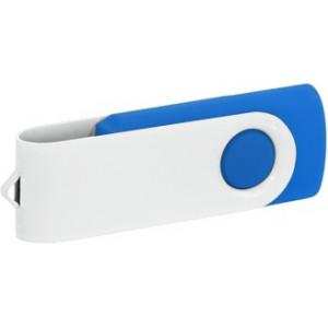"""Reklamní předmět """"Flashdisk USB 2.0"""" v barevné variantě bílá/námořnická modř"""