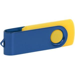"""Reklamní předmět """"Flashdisk USB 2.0"""" v barevné variantě zlatá/ocelově modrá"""