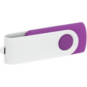 """Reklamní předmět """"Flashdisk USB 2.0"""" v barevné variantě bílá/fialová"""