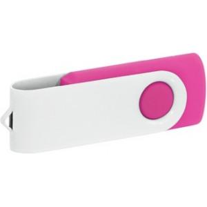 """Reklamní předmět """"Flashdisk USB 2.0"""" v barevné variantě bílá/růžová"""