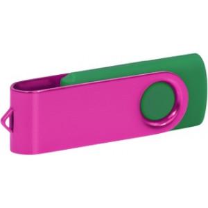 """Reklamní předmět """"Flashdisk USB 2.0"""" v barevné variantě tmavě zelená/světle šedá"""