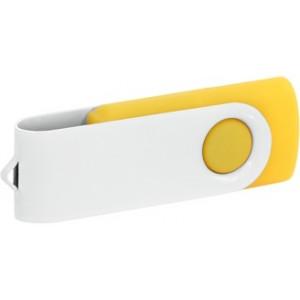 """Reklamní předmět """"Flashdisk USB 2.0"""" v barevné variantě bílá/žlutooranžová"""