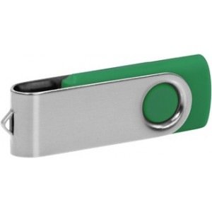"""Reklamní předmět """"Flashdisk USB 2.0"""" v barevné variantě stříbrná/ocelově modrá"""