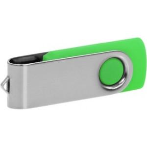 """Reklamní předmět """"Flashdisk USB 2.0"""" v barevné variantě stříbrná/žlutozelená"""