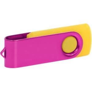 """Reklamní předmět """"Flashdisk USB 2.0"""" v barevné variantě tmavě zelená/růžová"""