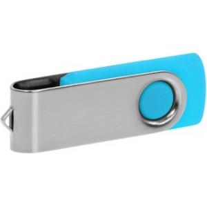 """Reklamní předmět """"Flashdisk USB 2.0"""" v barevné variantě stříbrná/azurová"""
