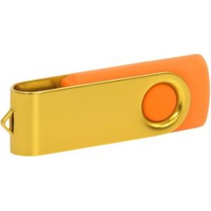 """Reklamní předmět """"Flashdisk USB 2.0"""" v barevné variantě zlatá/červená"""