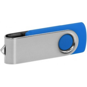 """Reklamní předmět """"Flashdisk USB 2.0"""" v barevné variantě stříbrná/námořnická modř"""
