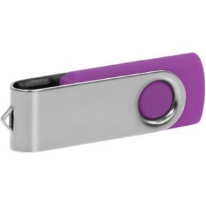 """Reklamní předmět """"Flashdisk USB 2.0"""" v barevné variantě stříbrná/fialová"""
