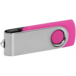 """Reklamní předmět """"Flashdisk USB 2.0"""" v barevné variantě stříbrná/růžová"""