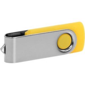 """Reklamní předmět """"Flashdisk USB 2.0"""" v barevné variantě stříbrná/žlutooranžová"""