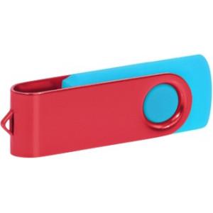 """Reklamní předmět """"Flashdisk USB 2.0"""" v barevné variantě olivová/ocelově modrá"""