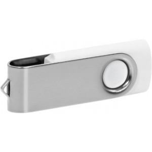 """Reklamní předmět """"Flashdisk USB 2.0"""" v barevné variantě stříbrná/bílá"""