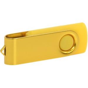 """Reklamní předmět """"Flashdisk USB 2.0"""" v barevné variantě zlatá/žlutooranžová"""