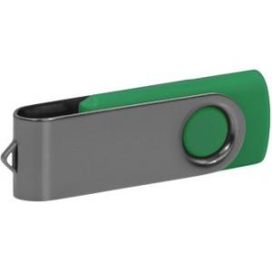 """Reklamní předmět """"Flashdisk USB 2.0"""" v barevné variantě šedá/ocelově modrá"""