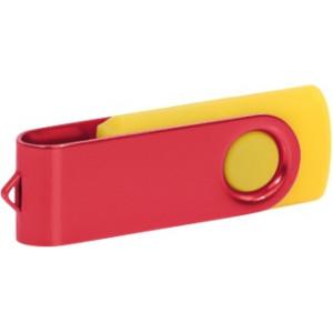 """Reklamní předmět """"Flashdisk USB 2.0"""" v barevné variantě olivová/růžová"""