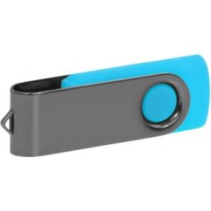 """Reklamní předmět """"Flashdisk USB 2.0"""" v barevné variantě šedá/azurová"""