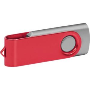 """Reklamní předmět """"Flashdisk USB 2.0"""" v barevné variantě olivová/červená"""