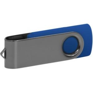 """Reklamní předmět """"Flashdisk USB 2.0"""" v barevné variantě šedá/námořnická modř"""