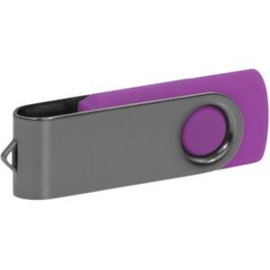 """Reklamní předmět """"Flashdisk USB 2.0"""" v barevné variantě šedá/fialová"""