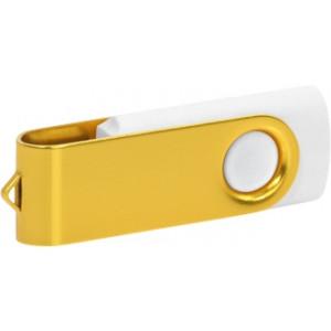 """Reklamní předmět """"Flashdisk USB 2.0"""" v barevné variantě zlatá/bílá"""