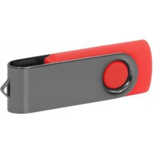 """Reklamní předmět """"Flashdisk USB 2.0"""" v barevné variantě šedá/oranžová"""