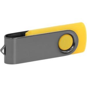 """Reklamní předmět """"Flashdisk USB 2.0"""" v barevné variantě šedá/žlutooranžová"""
