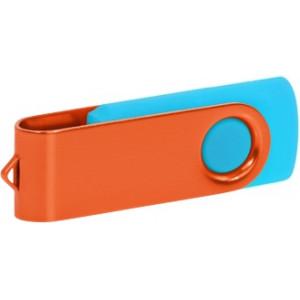 """Reklamní předmět """"Flashdisk USB 2.0"""" v barevné variantě ocelově modrá/ocelově modrá"""