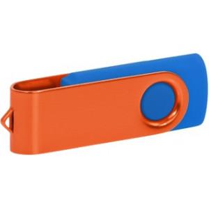 """Reklamní předmět """"Flashdisk USB 2.0"""" v barevné variantě ocelově modrá/žlutozelená"""